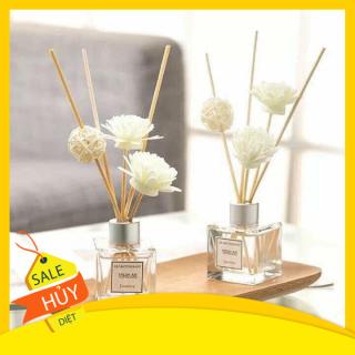 Combo 4 chai tinh dầu thơm để phòng - Nước hoa tinh dầu thơm để phòng nhiều hương vị Hoa tinh dầu tự khuếch tán que mấy, hoa gỗ thumbnail