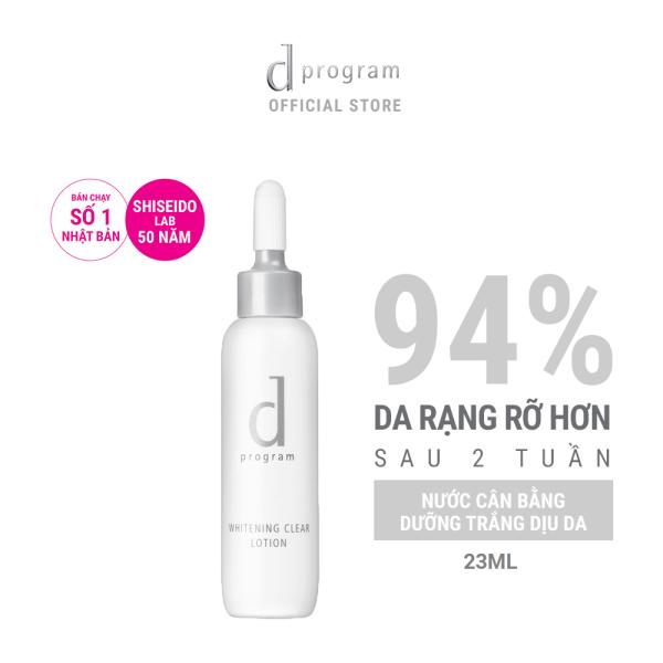 [GIFT] Nước cân bằng dưỡng trắng da d program whitening clear lotion 23ml