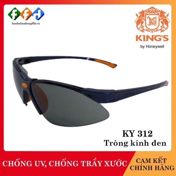 Kính bảo hộ Kings KY312 mắt kính đen, Kính chống tia UV, chống bụi, chống xước, dùng trong lao động, đi xe máy [FFD]