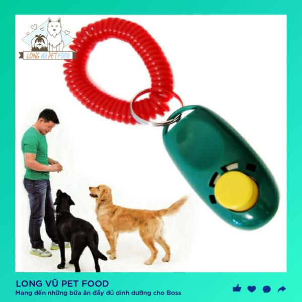 Clicker huấn luyện chó / Còi huấn luyện chó - Long Vũ Pet Food