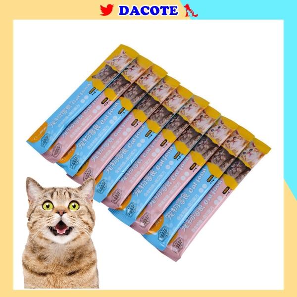 Súp thưởng cho mèo shizuka DACOTE đầy đủ dinh dưỡng giá rẻ thanh 15g