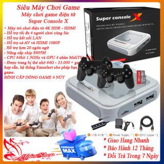 Máy chơi game, máy chơi gamer cầm tay, Máy chơi game điện tử Super Console X hỗ trợ thẻ nhớ 64 33000 game- Máy trò chơi điện tử 4K HDR - HDMI - Hỗ trợ 4 tay cầm - Hỗ trợ kết nối LAN, máy chơi game mini cầm tay thumbnail