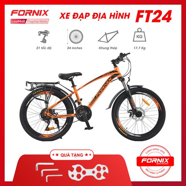 Mua XE ĐẠP ĐỊA HÌNH FORNIX FT24- Vòng bánh 24 (KÈM SÁCH HƯỚNG DẪN) - Bảo hành 12 tháng + Tặng Bộ lắp ráp