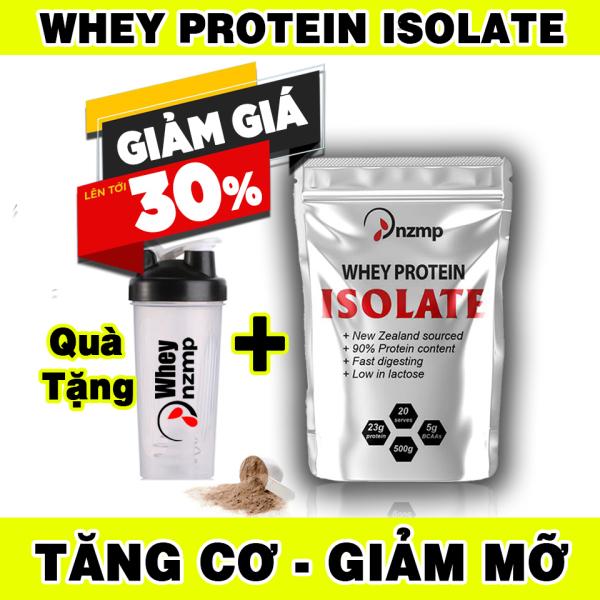 (COMBO 4 túi + Tặng 1 túi) Sữa Tăng Cơ - Whey Protein Isolate NZMP + Tặng bình lắc Shaker 700ml