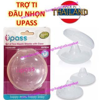 (Đầu ti nhọn) UPASS (Thái Lan) - Hộp 02 cái trợ ti ngực silicone mềm cho Mẹ hỗ trợ cho bé bú Upass UP1001N thumbnail