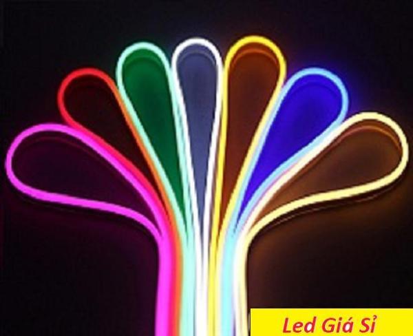 Dây đèn LED Neon 12v cuộn 5m. Đèn led ống neon Flex: Trắng, Vàng, Xanh dương, Xanh lá, Đỏ, Ống plastic mềm, mờ, tán quang đều, hiệu ứng sáng đèn neon