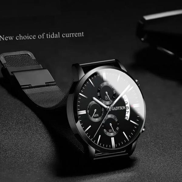 Đồng hồ nam cao cấp GADYSON DZ3N10 Mẫu Mới Special Design dây thép lụa đường kính mặt 40mm bán chạy