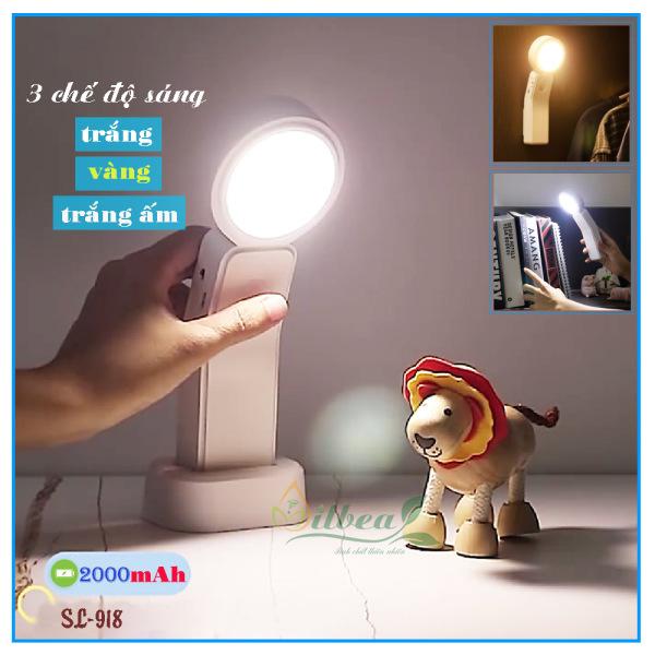 Đèn LED Đọc Sách Pin SạcTích Điện 2000mAh Treo Tường Hoặc Để bànSL-918 Với Ba Chế Độ Sáng Và Tăng Giảm Được Độ Sáng