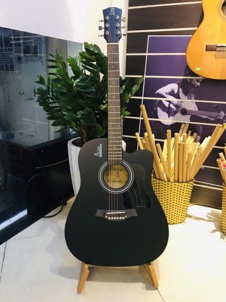 Guitar Acoustic Màu Đen Giá Tốt, Gỗ Nguyên Tấm - Sol.G
