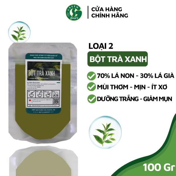 Bột trà xanh nguyên chất Organic 100Gr - Handmade - B002.005 cao cấp