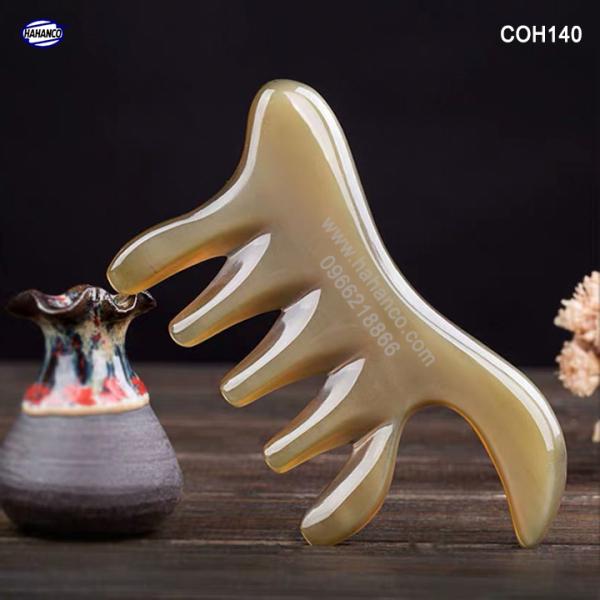 Lược sừng đa năng thần thánh (Size: M - 11cm) Mát xa làm đẹp /thư giãn /giúp lưu thông máu [COH140] HAHANCO
