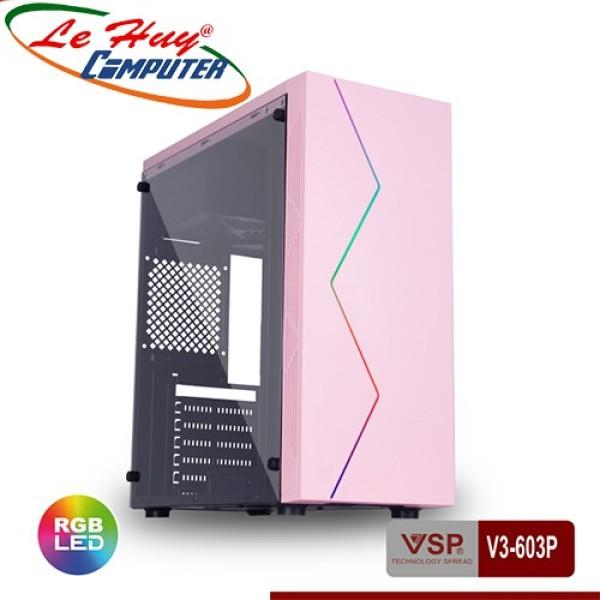 Bảng giá Vỏ Máy Tính Vsp V3-603P Có Sẵn Led Rgb Và Nắp Hông Trong Suốt Phong Vũ