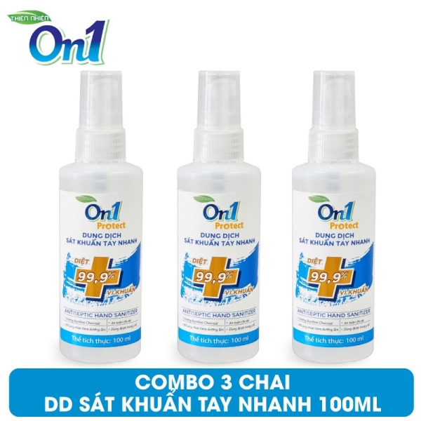 COMBO 3 Chai Dung Dịch Sát Khuẩn Tay Nhanh On1 Protect Hương BamBoo Charcoal 100ml C0201 (Mẫu Mới 2021) cao cấp