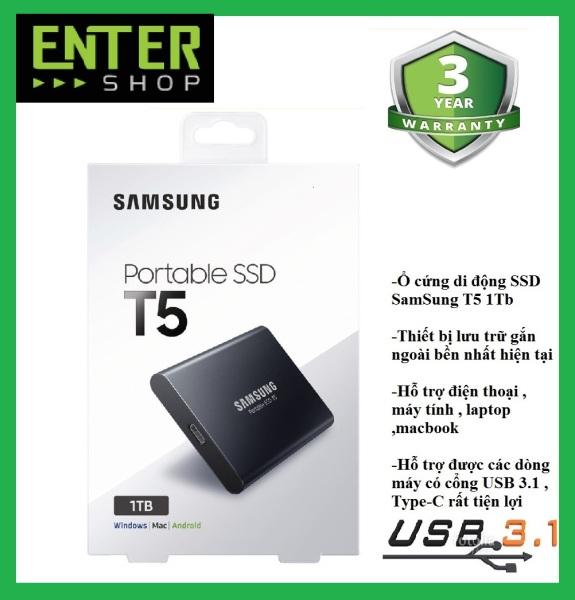 Bảng giá Ổ cứng di động SSD External Samsung T5 1Tb Usb 3.1 gen 2 Phong Vũ