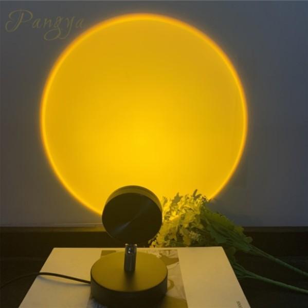 Bảng giá Đèn Chiếu USB Mini, Đèn Xung Quanh Hợp Kim Nhôm, Mặt Trời Lặn Trong Hoàng Hôn Đèn Đầy Màu Sắc Cầu Vồng Ánh Sáng Đèn Ngủ LED Phòng Ngủ Nền Trang Trí Ánh Sáng Phong Vũ