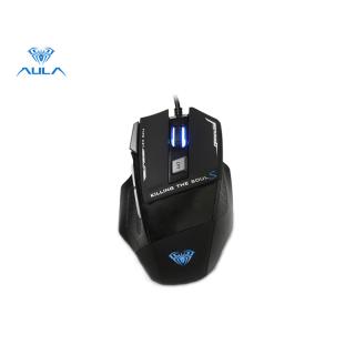 Chuột chơi game Aula S12 đến 4800 DPI có đèn nút Marco size 7, phù hợp với các dòng laptop Cumper thumbnail
