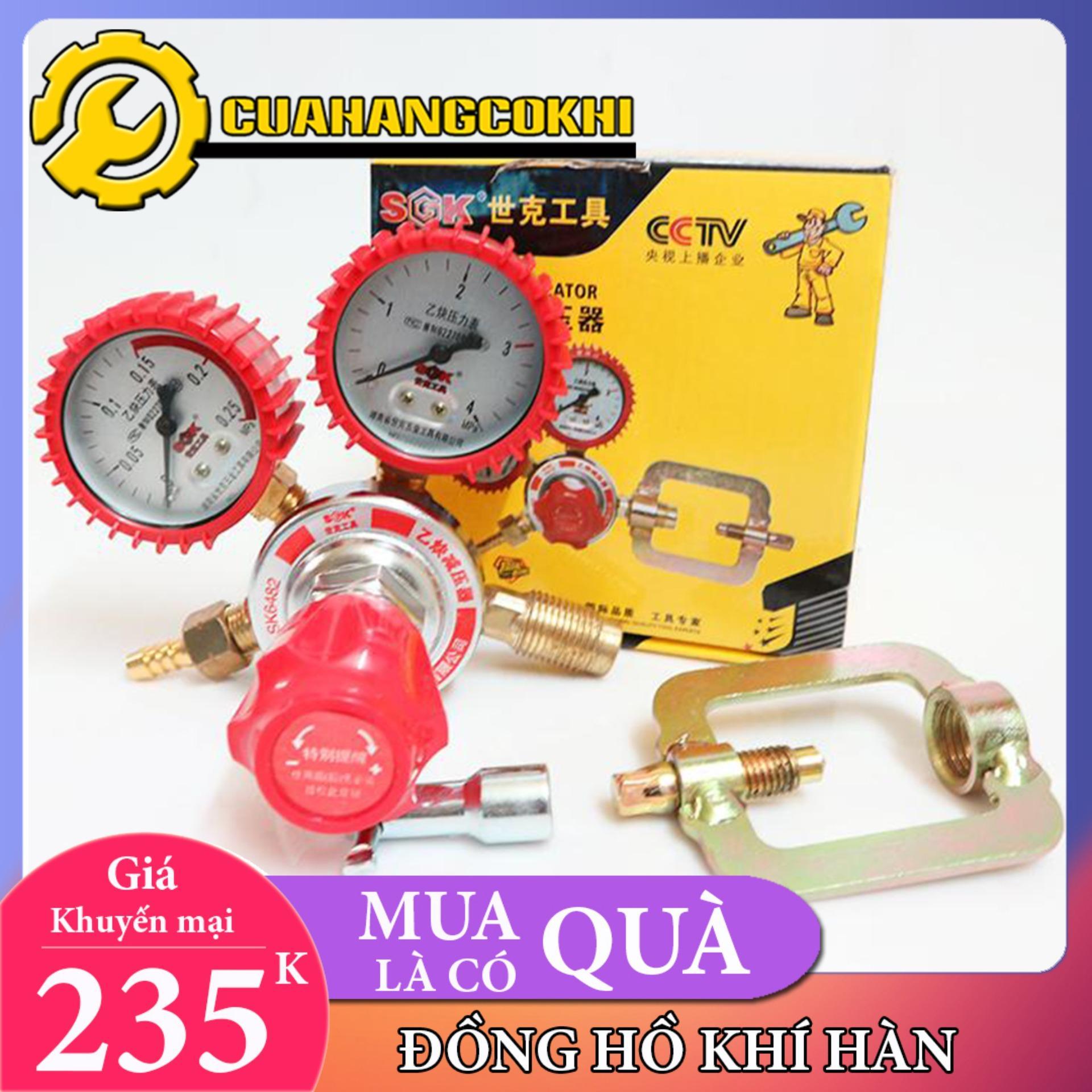 Đồng hồ điều áp khí Acetilen Oxygen, Acetylene, Propane, vv