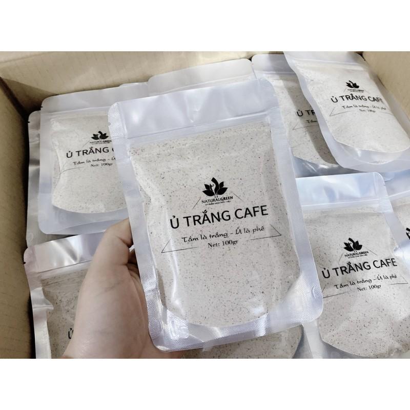(100gr) COMBO 1 GÓI Ủ TRẮNG CAFE THIÊN NHIÊN (dùng cả face và body) mẫu mới ,HÀNG