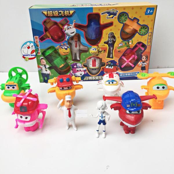 Đồ chơi đội bay siêu đẳng 8 nhân vật biến hình máy bay và robot siêu hot 2019