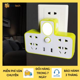 Ổ Cắm Điện - Ổ Điện Đa Năng - Ổ cắm đa năng Có Cổng Gắn USB, Sạc Điện Thoại Kiêm Đèn Ngủ Cực Đẹp thumbnail