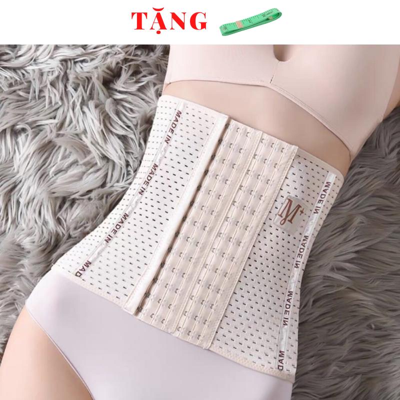 Gen nịt bụng định hình 6 nấc cài - 4 thanh chống cuộn - chiều cao gen 25cm - gen nịt bụng tạo vòng eo thon gọn - đai nịch bụng chống cuộn giảm mỡ sau sinh - miếng nâng bụng - đồ lót định hình - G02