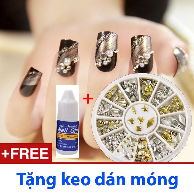 Hạt Nails Trang trí Móng tay, Điện thoại, Quần áo - Tặng keo dán nhập khẩu
