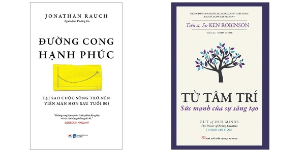 ComBo 2 Cuốn: Đường Cong Hạnh Phúc - Tại Sao Cuộc Sống Trở Nên Viên Mãn Hơn Sau Tuổi 50 + Từ Tâm Trí - Sức Mạnh Của Sự Sáng Tạo