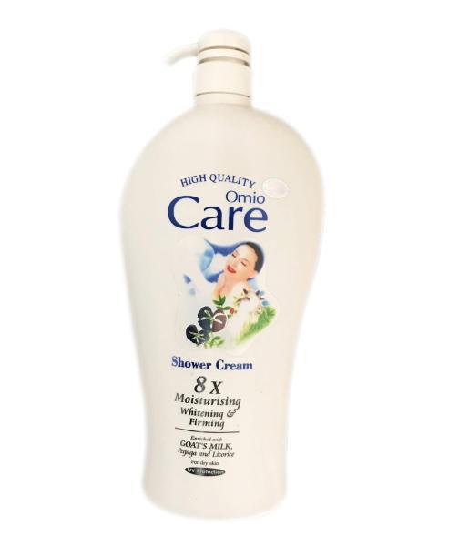 Sữa tắm ngăn tia UV, làm trắng da, cân bằng độ ẩm Omio Care Shower Cream 8x Moisturising 1200ml Hương Sữa Dê - PYT Shop