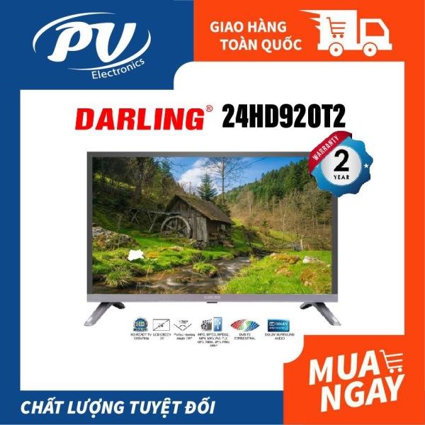 Bảng giá Tivi LED Digital DVB-T2 Darling 24 inch model 24HD920T2 (HD Ready, Truyền hình Kỹ thuật số, , màu đen) - Tivi giá rẻ - Bảo hành toàn quốc 2 năm