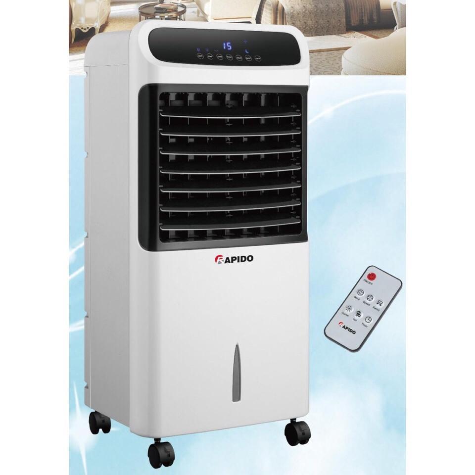 Quạt điều hòa không khí Rapido Model RAC80-E (10-15m2), lọc không khí ion âm, tốt cho sức khỏe gia đình, bảo hành 12 tháng TOÀN QUỐC TẠI CÁC ĐẠI LÝ FERROLI - MQ STORE