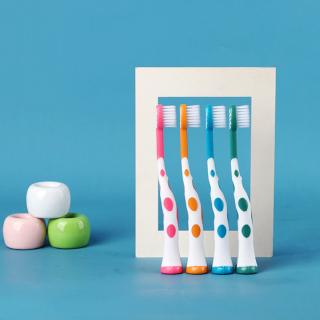 Set 4 bàn chải xuất Nhật cho bé từ 1-4 tuổi lông bàn chải mềm mại hình hươu cao cổ ngộ nghĩnh BBShine I015 thumbnail