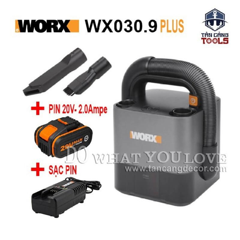 Combo Máy Hút Bụi Mini Worx WX030.9 20V 2Ampe