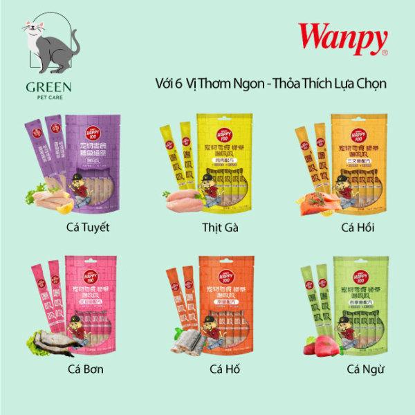 Súp thưởng Wanpy Happy 100 cho mèo đủ vị gói 5 thanh ( 5x14gr)