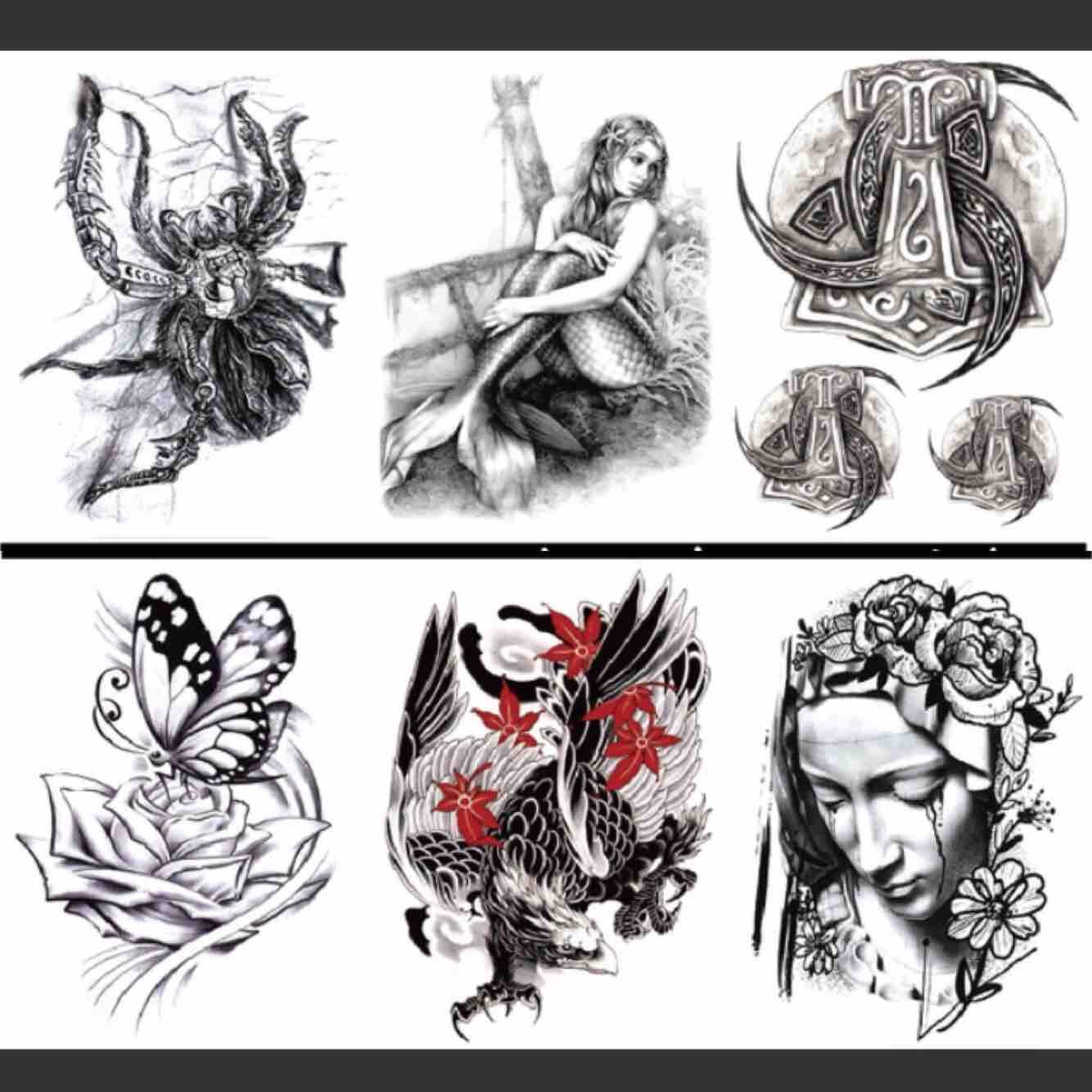 Hình xăm dán Tattoo 5 ngày chính hãng