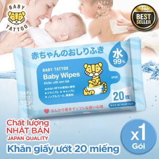 Khăn giấy ướt cao cấp không mùi 99% nước tinh khiết, chất liệu an toàn tiện dụng, không chất tạo mùi 20 tơ thumbnail