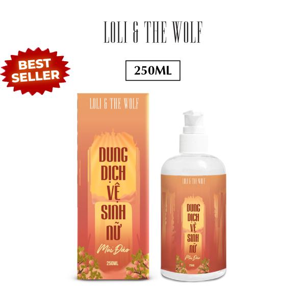 Dung dịch vệ sinh nữ mùi đào thơm mát thành phần tự nhiên chai 250ml - LOLI & THE WOLF
