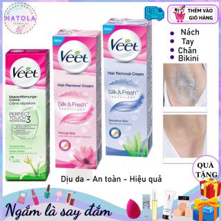 HATOLA- Kem tẩy lông triệt lông Veet Pháp 100ml hiệu quả kem dưỡng, son môi, bộ trang điểm, nhũ mắt, phấn phủ,kẻ mắt - KTL thumbnail
