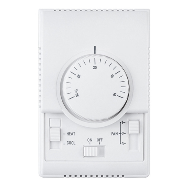 MT01 220VAC Room Mechanical Thermostat Air Conditioner Fan Coil Thermostat Temperature Controller Warm Malaysia