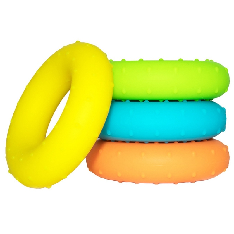 4Pcs Hand Grip Ring Silicone Athlete Fitness Hand Exerciser 20-50LB Grips Muscle Strength Sport Wrist Training Equipment giá rẻ