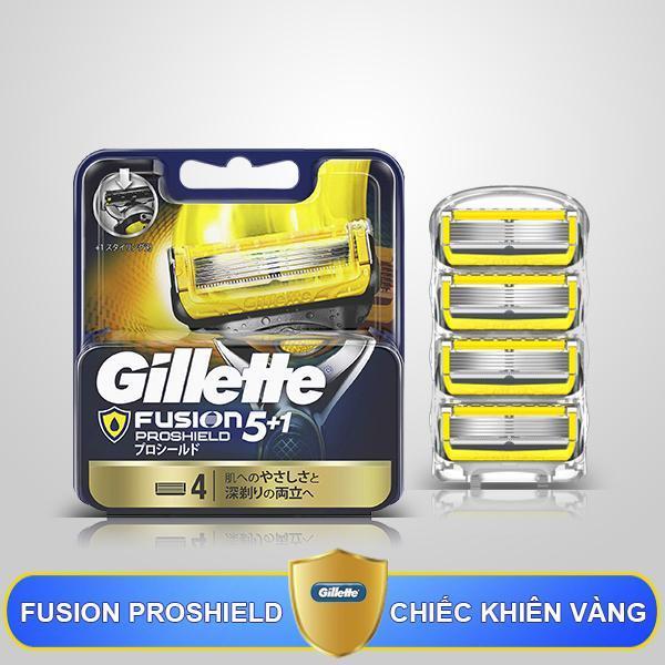 Lưỡi dao thay thế Gillette Fusion 5 + 1 Proshield Nhật Bản, vỉ 4 lưỡi nhập khẩu