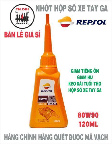 Nhớt lap REPSOL MOTO GEAR OIL 80W90 120ML cho hộp số xe tay ga