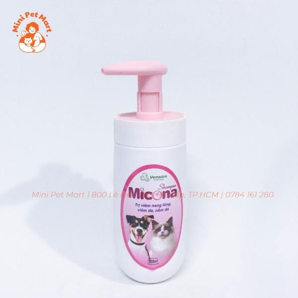 Sữa tắm  viêm da, nấm da cho chó mèo MICONA - 200ml