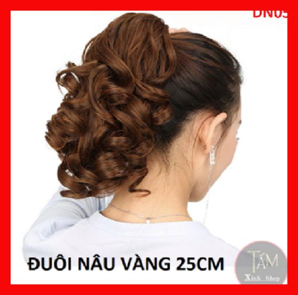 Đuôi tóc giả nữ xoăn lọn thời trang đẹp - 25cm giá rẻ