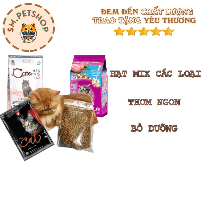 [HCM][Hạt cho Mèo] [túi 1Kg] Gói Mix CATSRANG CATSEYE CANIN Tiêu Búi Lông - Tăng Cường Hệ Miễn Dịch