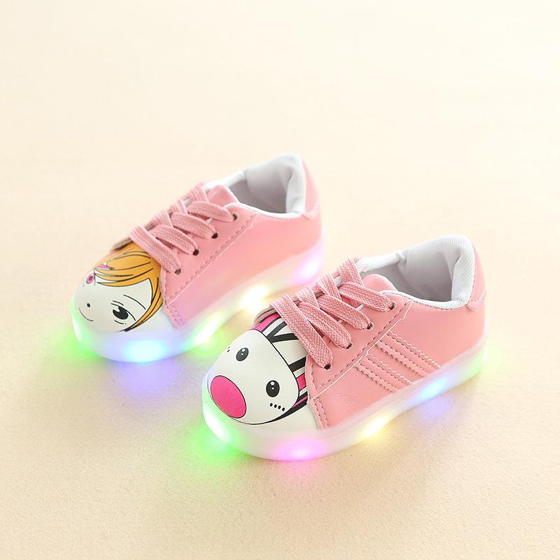 Giá bán Sneaker có đèn led cho bé gái-Giày bé gái - giay be gai - giày cho bé gái - giay cho be gai - giày trẻ em - giay the thao cho be gai - giày thể thao cho bé gái - giay dep tre em - giày phát sáng trẻ em