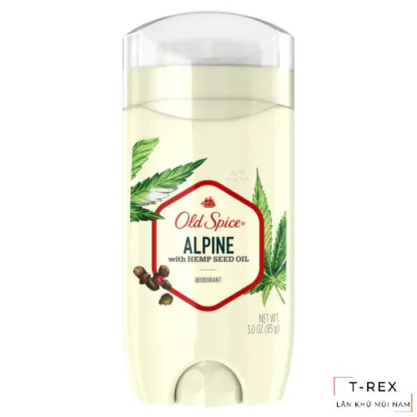 Lăn Khử Mùi Old Spice Fresher Collection Alpine with Hemp Seed Oil 85Gr (Sáp Xanh) nhập khẩu