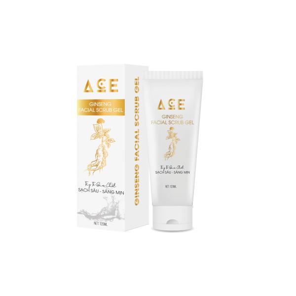 Gel tẩy tế bào chết ACE cho da mặt tinh chất nhân sâm sữa non 120ml