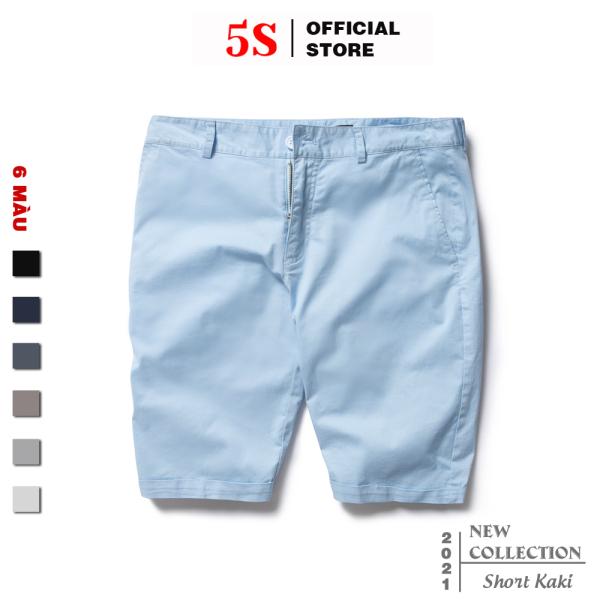 Nơi bán Quần Short Nam 5S (6 màu), Chất Kaki Cotton Co Giãn, Thấm Hút Tốt, Hạn Chế Nhăn (QSK21050-05)