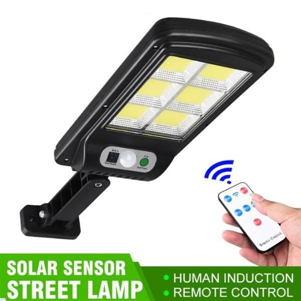 Đèn Năng Lượng Mặt Trời Solar Street Lamp 6 Bóng Led Công Suất 250W  Loại To Cảm Biến Chuyển Động, Kèm Điều Khiển Tắt Bật Từ Xa