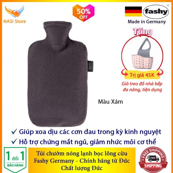 Túi Chườm Nóng Lạnh Fashy Bọc Lông Cừu (nhập khẩu từ Đức) - Túi chườm bụng kinh, túi chườm nước nóng, túi chườm giảm đau, túi chườm đa năng, túi chườm bụng sau sinh - NASI Store bán chạy